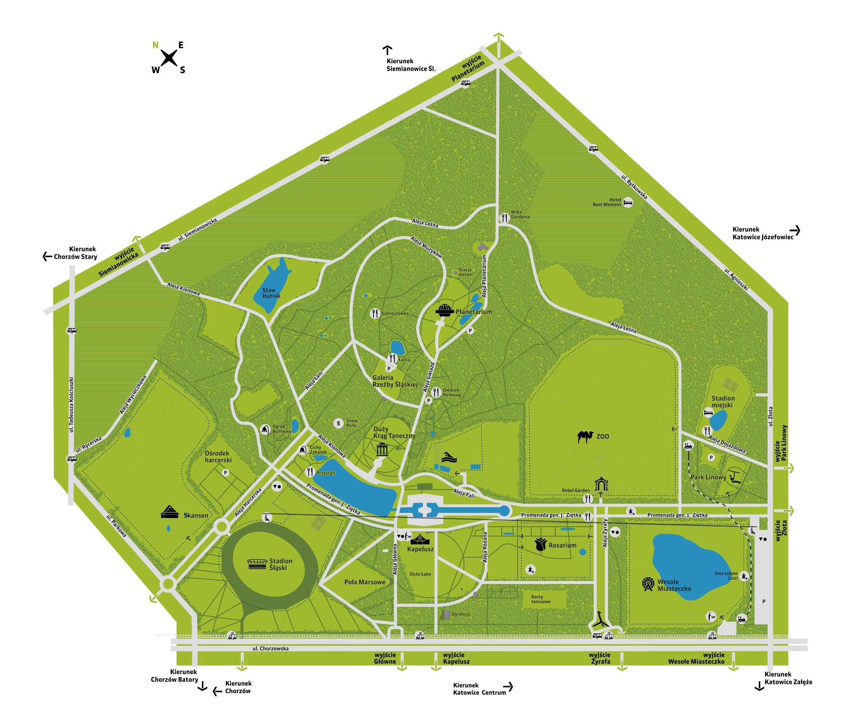 plan Parku Śląskiego